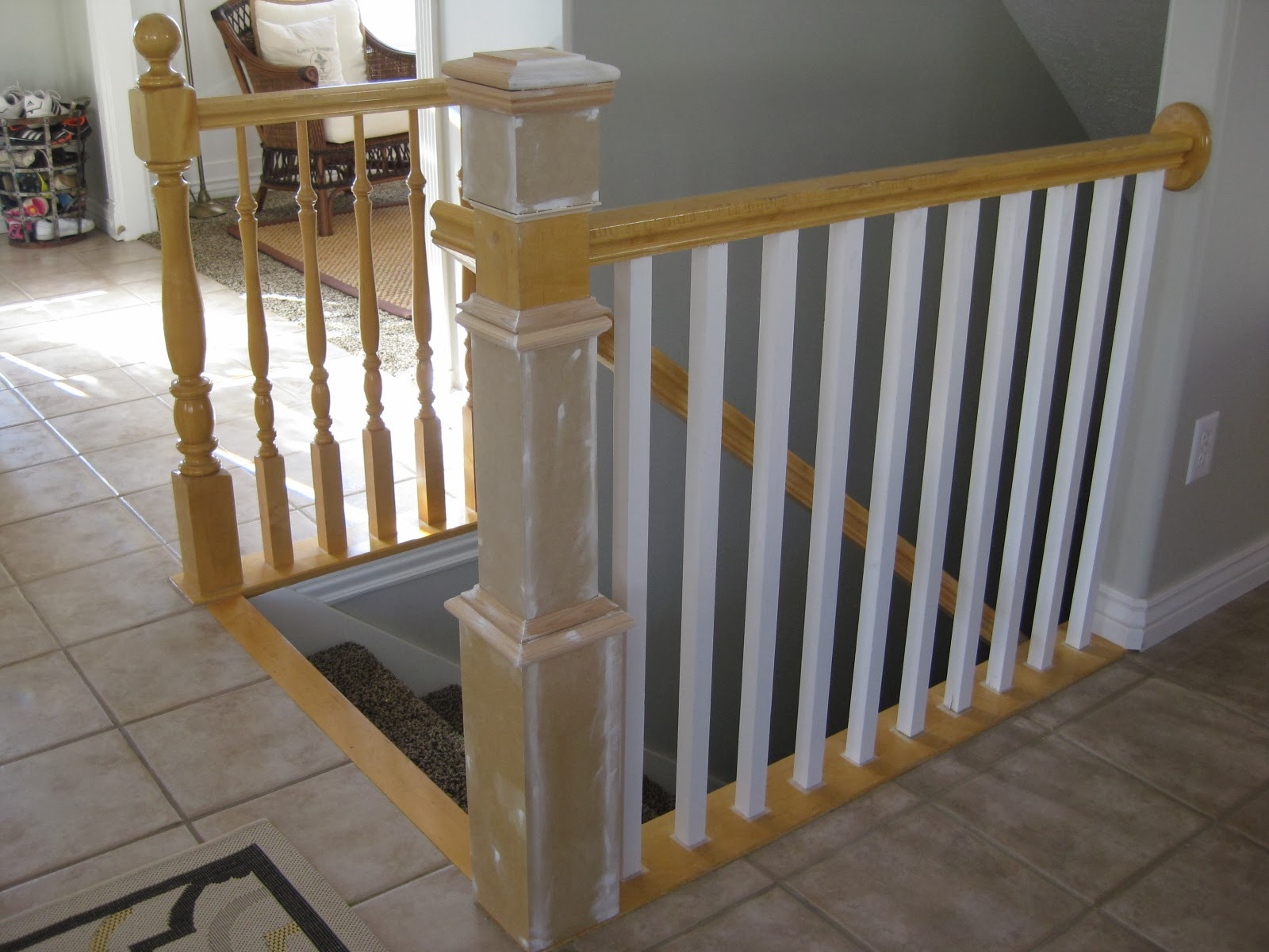 Replace Stair Banister Spindles And Newel Post Diy Tda Decorating Design Featured On