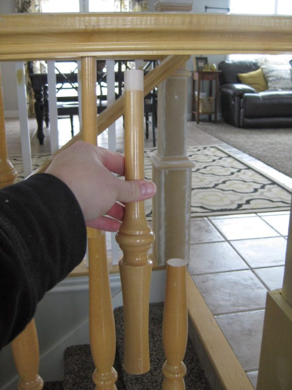 replacing stair banisters - TDA Decorating and Design featured on @Remodelaholic