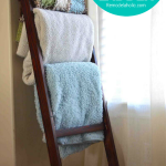 Simple And Cheap DIY Blanket Ladder From Remodelaholic