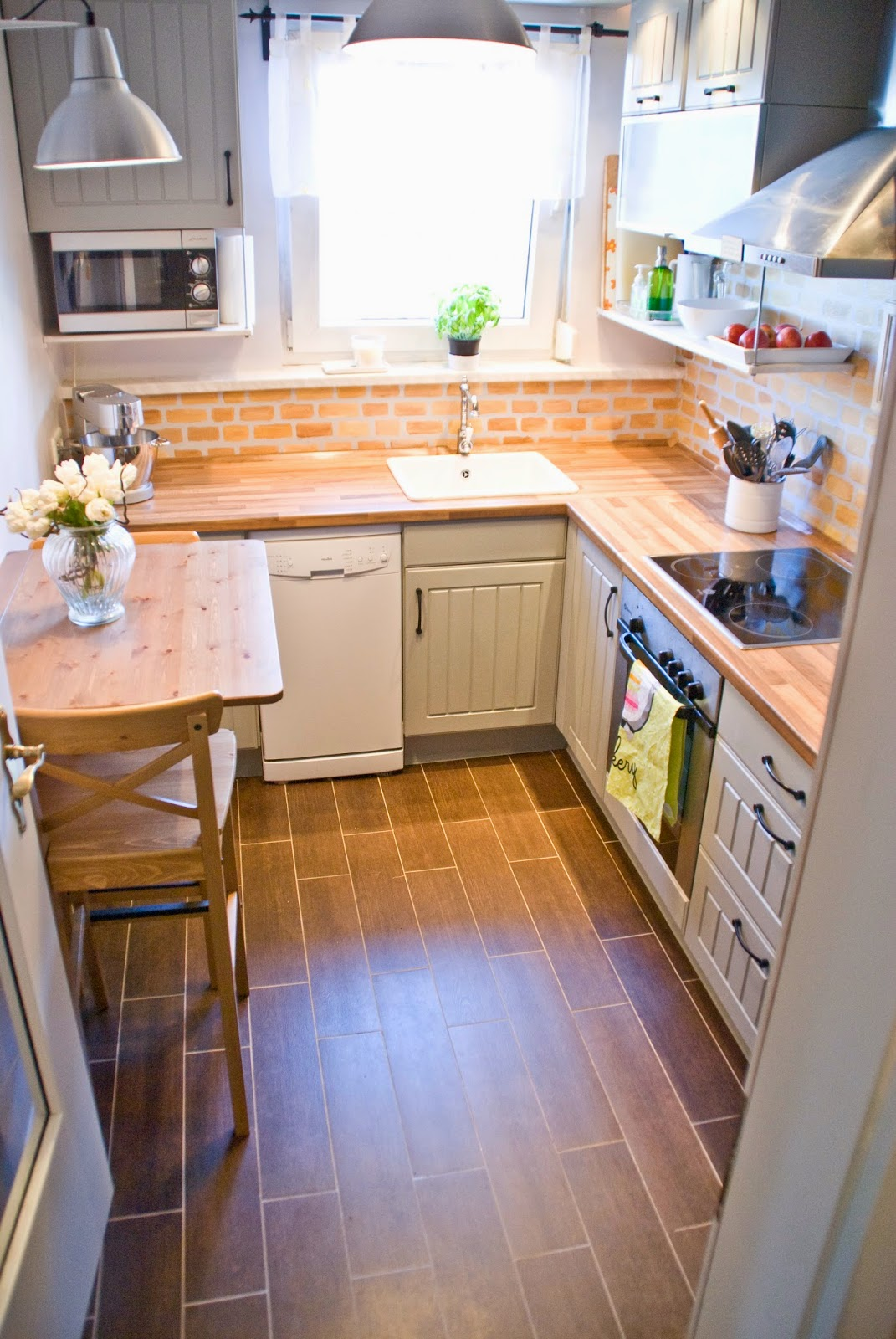 Genial Small Kitchen With Wood Butcherblock Countertops   Pudel Design Featured On  @Remodelaholic