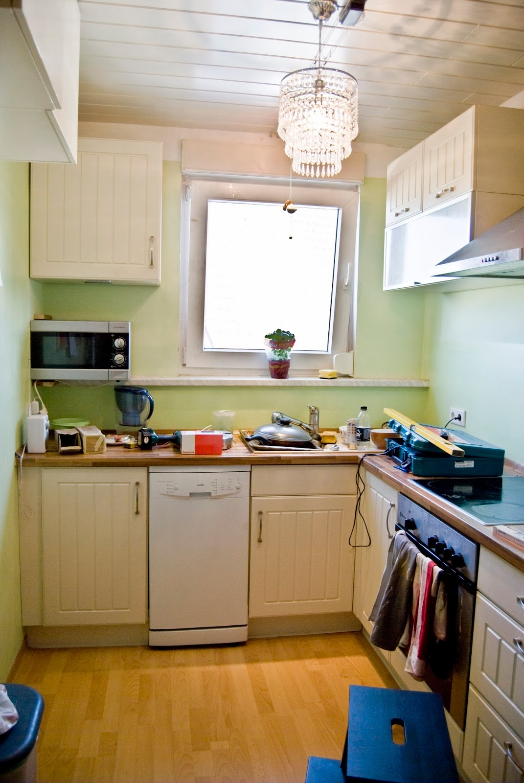 Tiny Kitchen Renovation With Faux Painted
