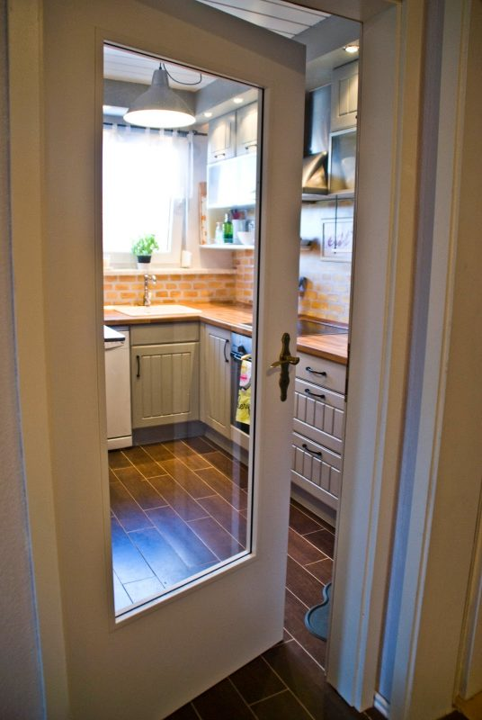 tiny kitchen makeover - Pudel-design featured on @Remodelaholic