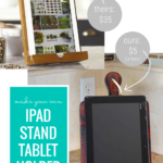 Wood Diy IPad Stand Tablet Holder Easy Gift Idea, HerToolbelt For Remodelaholic