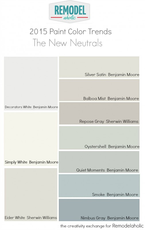 2015 Favorite Paint Color Trends The New Neutrals Creativity Exchange For Remodelaholic