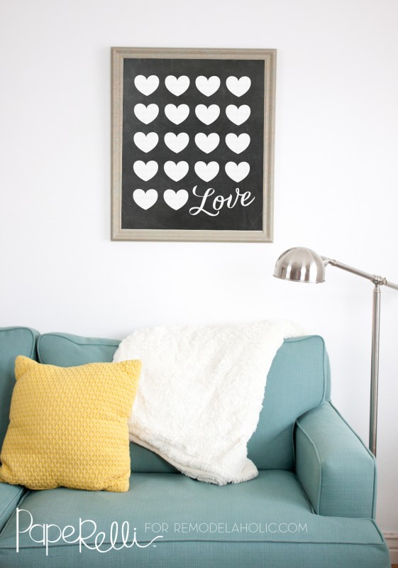 Chalkboard Love Poster Printable Wall Art