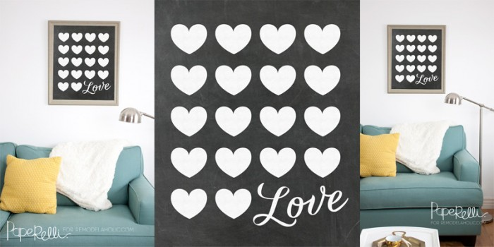 Chalkboard Love Poster Printable