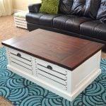 Crate storage coffee table hertoolbelt