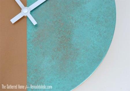 DIY Two-Tone Copper Clock Closeup2