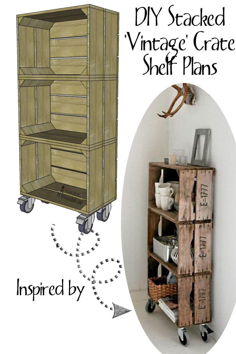 Love the look of vintage crates? Build DIY 'vintage' crates to make a ...