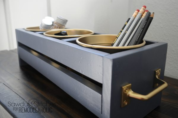 Desktop Organizer Sawdust2stitches for remodelaholic