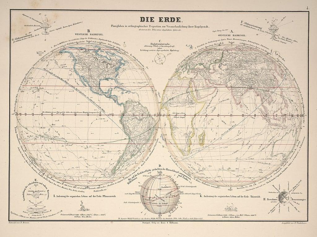 20 free vintage map printable images remodelaholic bloglovin 6 humboldts kosmos via bibliodyssey gumiabroncs Images