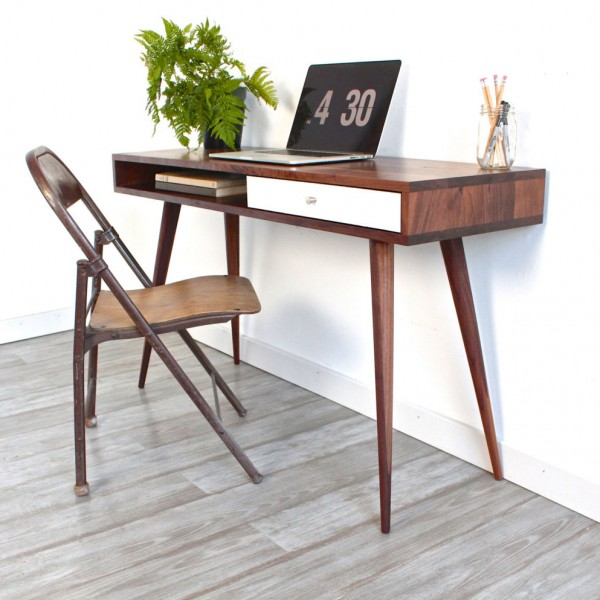 build a mid century modern desk inspired by dot and bo remodelaholic buildingplan - Mid Century Modern Furniture Desk