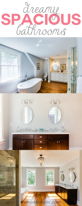 Dreamy Spacious Bathroom Inspiration @Remodelaholic