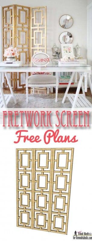 Fretwork Screen Free Plans