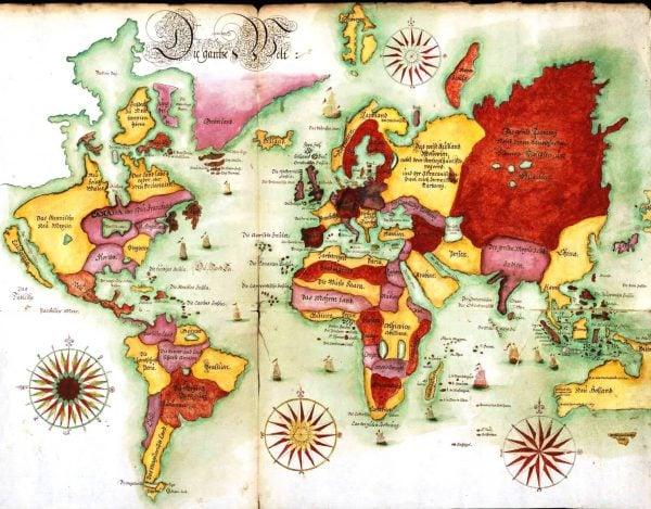 20 ingyenes vintage térkép nyomtatható kép |  Remodelaholic.com #art #printable #maps