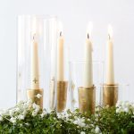 Gold leaf candle holders - featured image