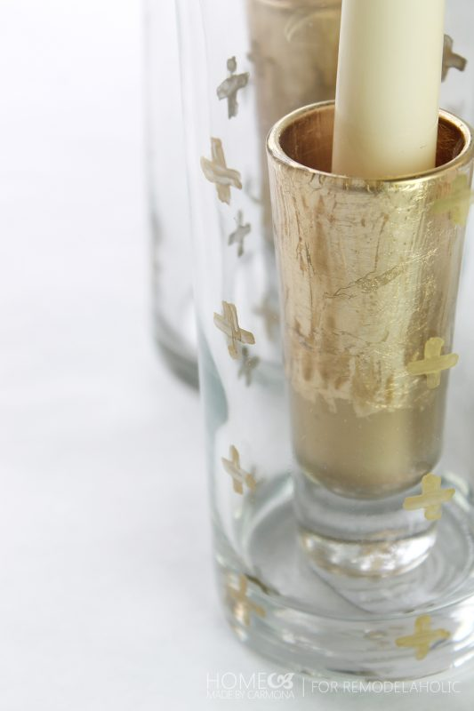 Gold leaf shot glass - for Remodelaholic