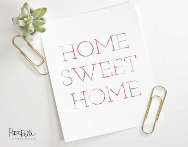 Home Sweet Home Printable by Paperelli on @Remodelaholic