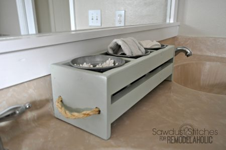 Ikea Storage Sawdust2stitches for remodelaholic  bathroom vanity