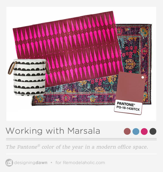 Designing Dawn - Marsala Office Space PI