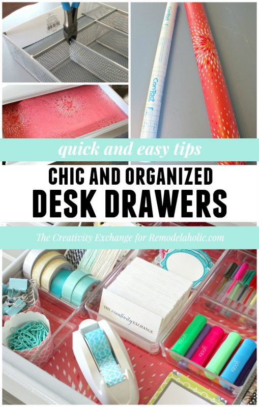 Quick tips for organizing desk drawers @Remodelaholic