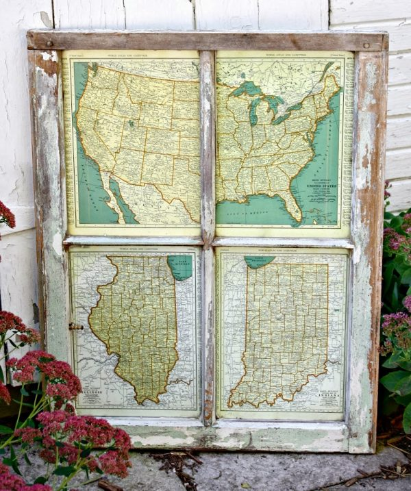 Ways to use vintage maps by Robb Restyle | Remodelaholic.com #art #printable #maps