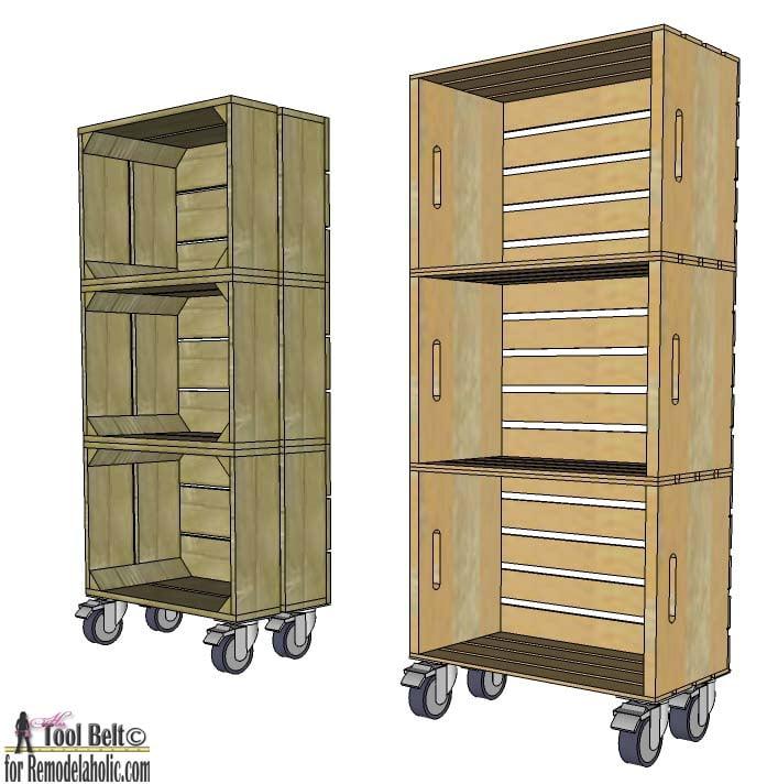 Remodelaholic | DIY Vintage Crate Shelf