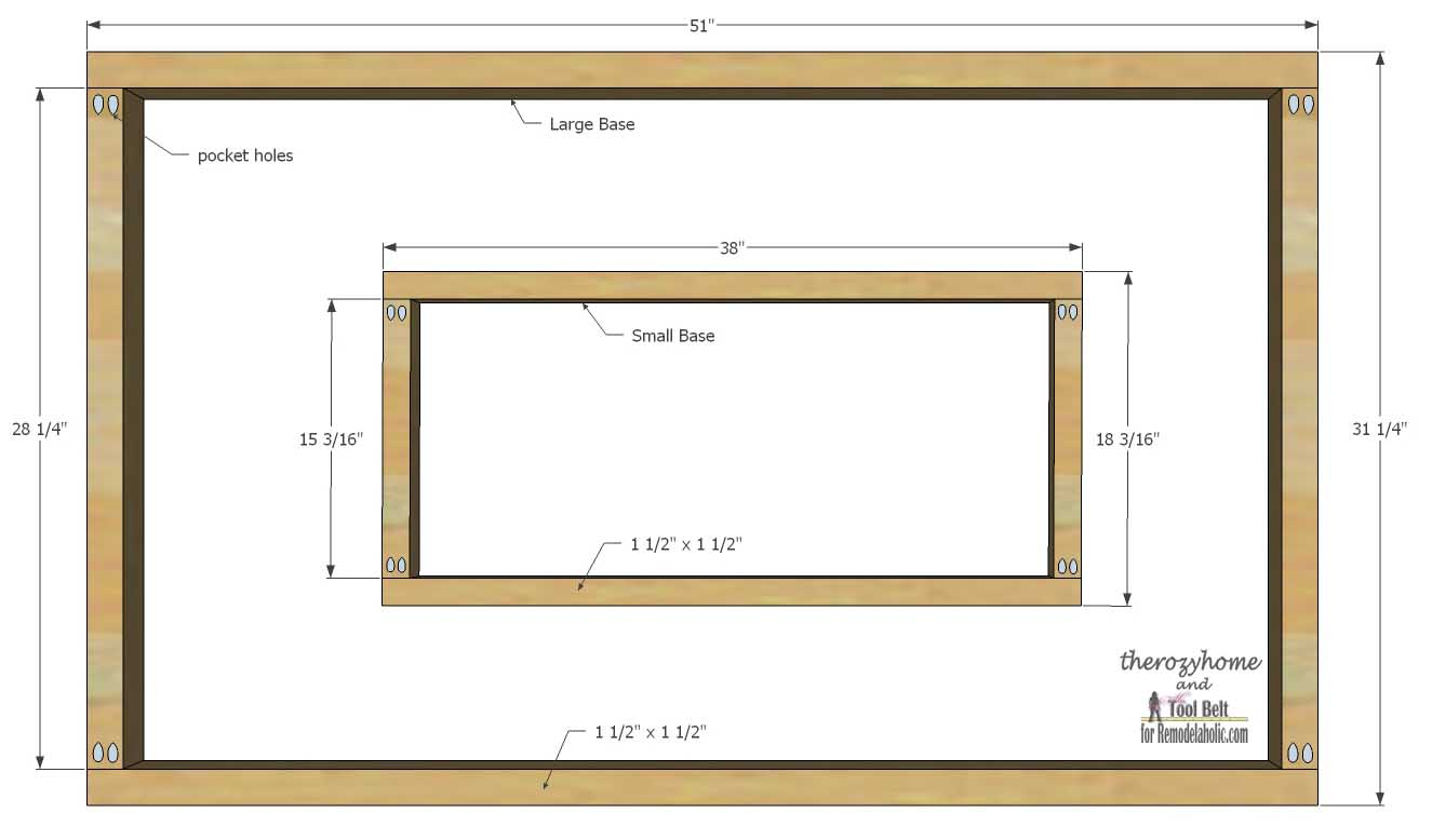 Trestle Door Coffee Table-base assembly