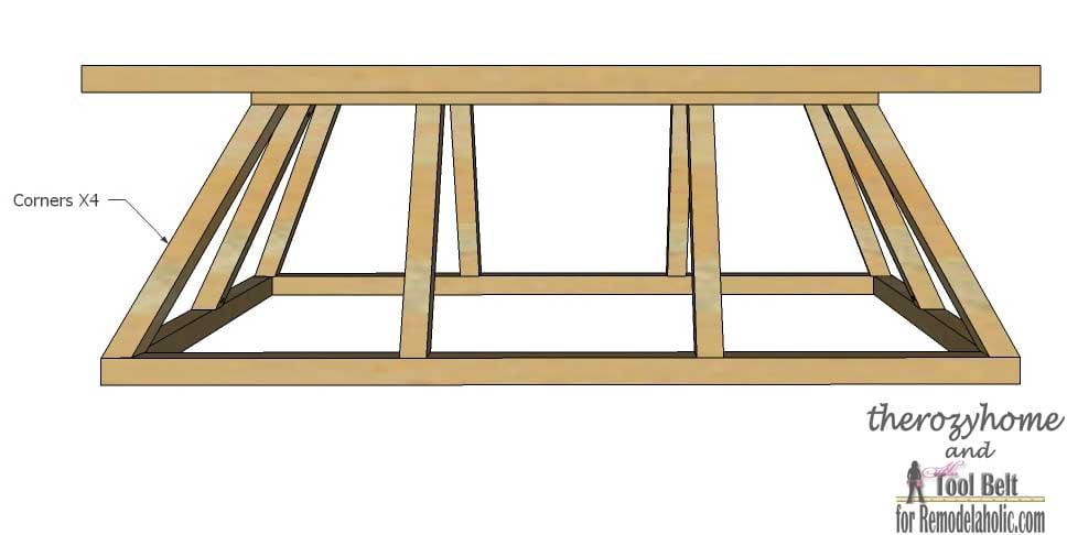 Trestle Door Coffee Table-install corners