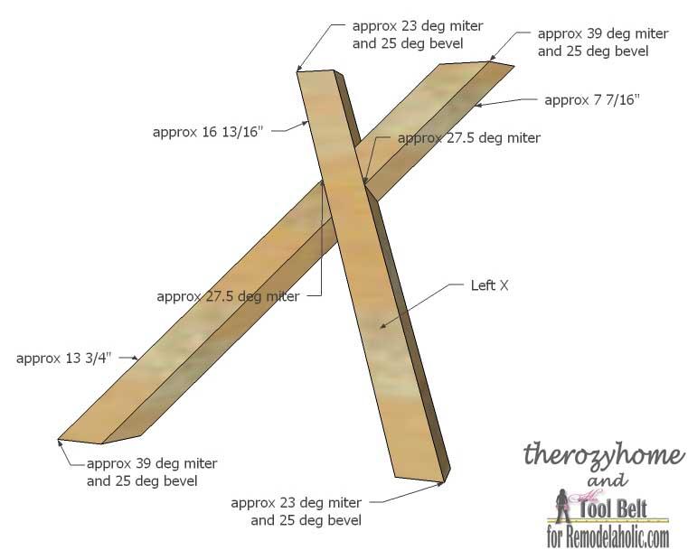 Trestle Door Coffee Table-left X