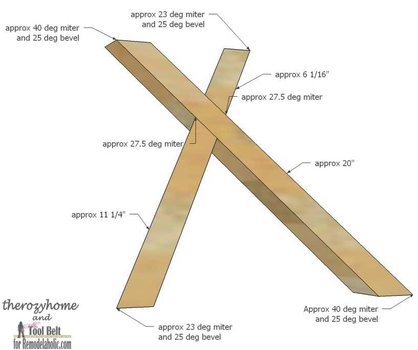 Trestle Door Coffee Table-right X