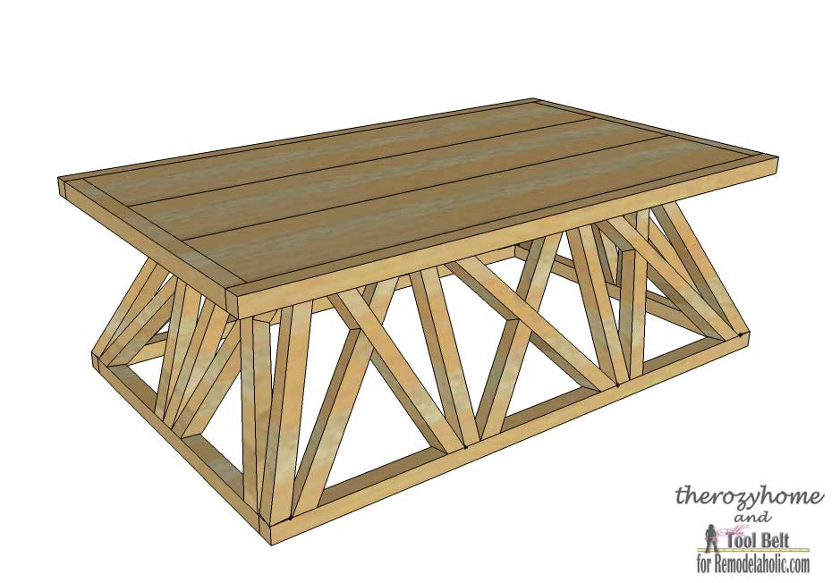 Trestle Door Coffee Table