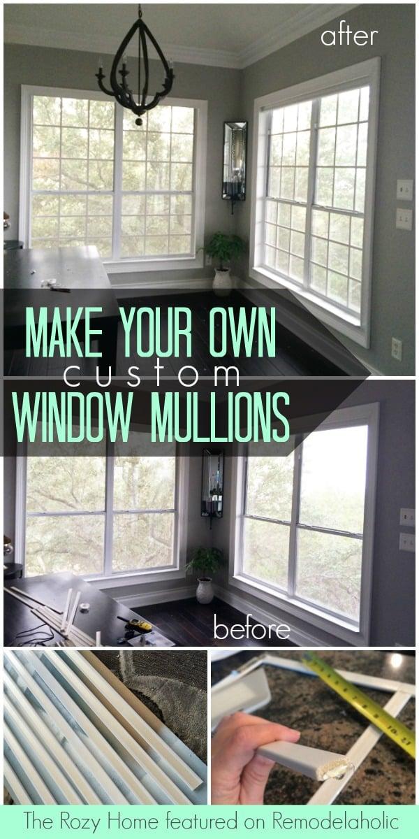 Diy Custom Window Mullions Grids Remodelaholic