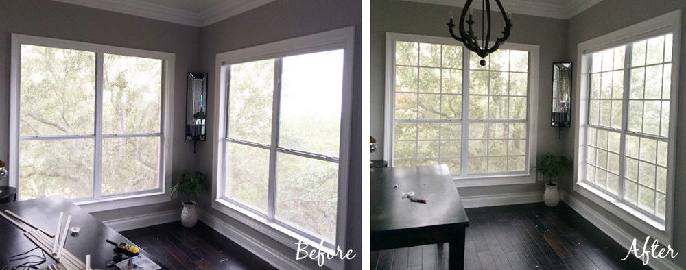 ... Diy Faux Window Grids Before And After   The Rozy Home Featured On  @Remodelaholic ...