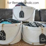 diy painted storage baskets