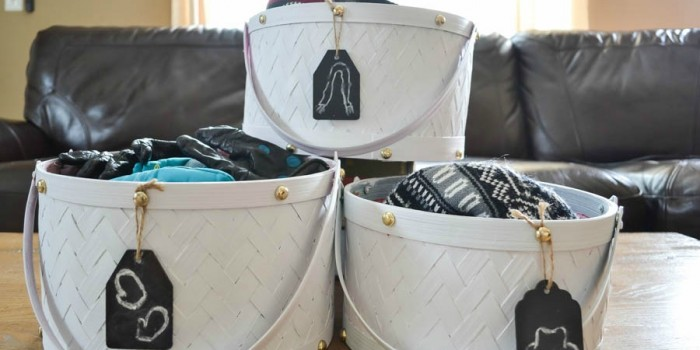 Painted Storage Baskets