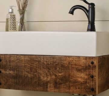 Reclaimed Wood Floating Vanity