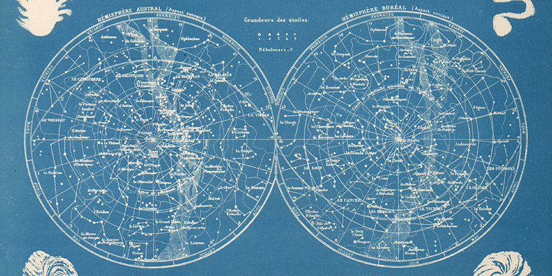 Remodelaholic Free Vintage Astronomy Printable Images - Constellation wall map