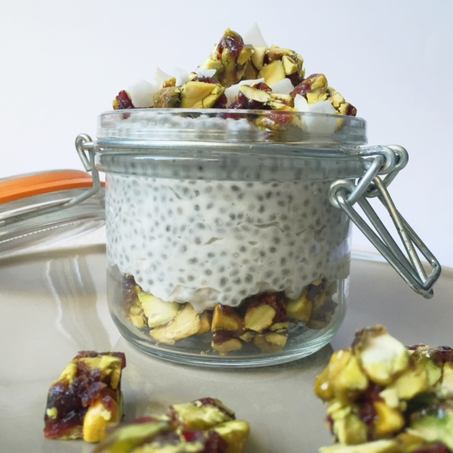 Coconut and Pistachio Chia Pudding
