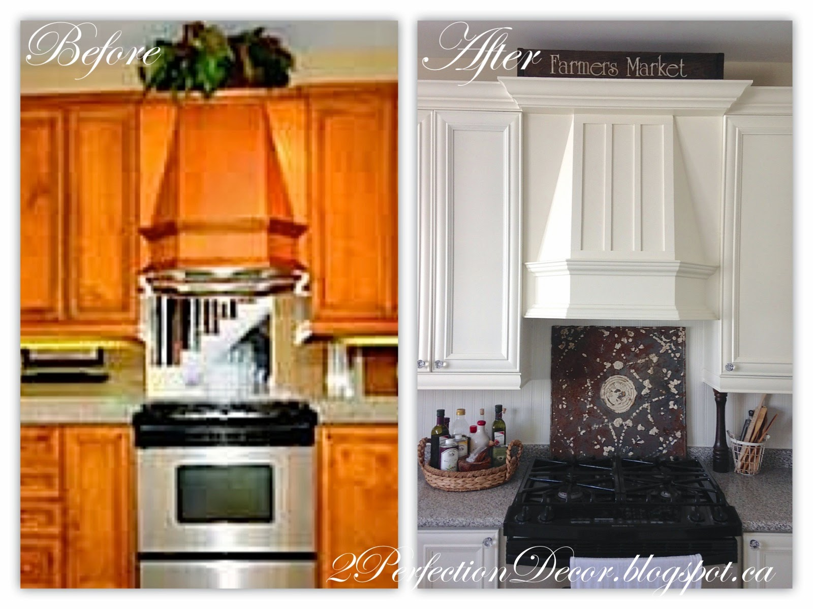 Remodelaholic 7 inspiring before and afters january for Kitchen hood decoration
