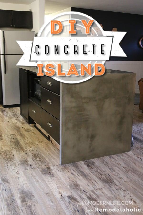 Good DIY Concrete Kitchen Island | Remodelaholic.com