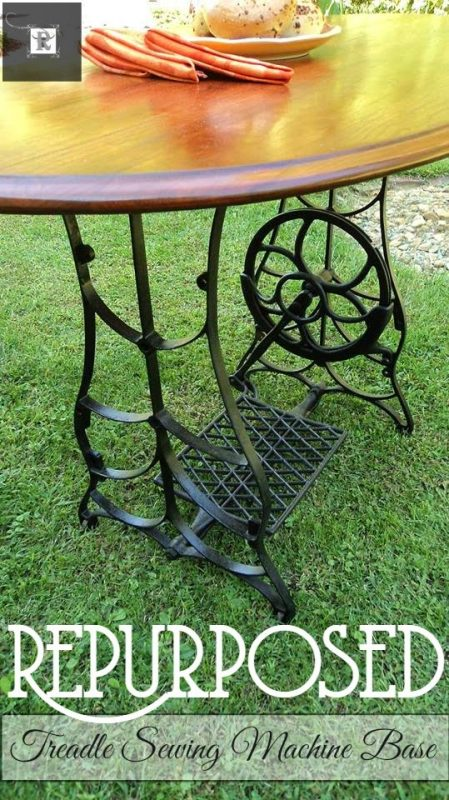 treadle sewing machine base into dining table - Redo It Yourself Inspirations via @Remodelaholic