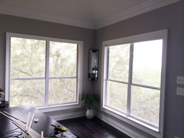 windows before DIY mullion grids - The Rozy Home featured on @Remodelaholic