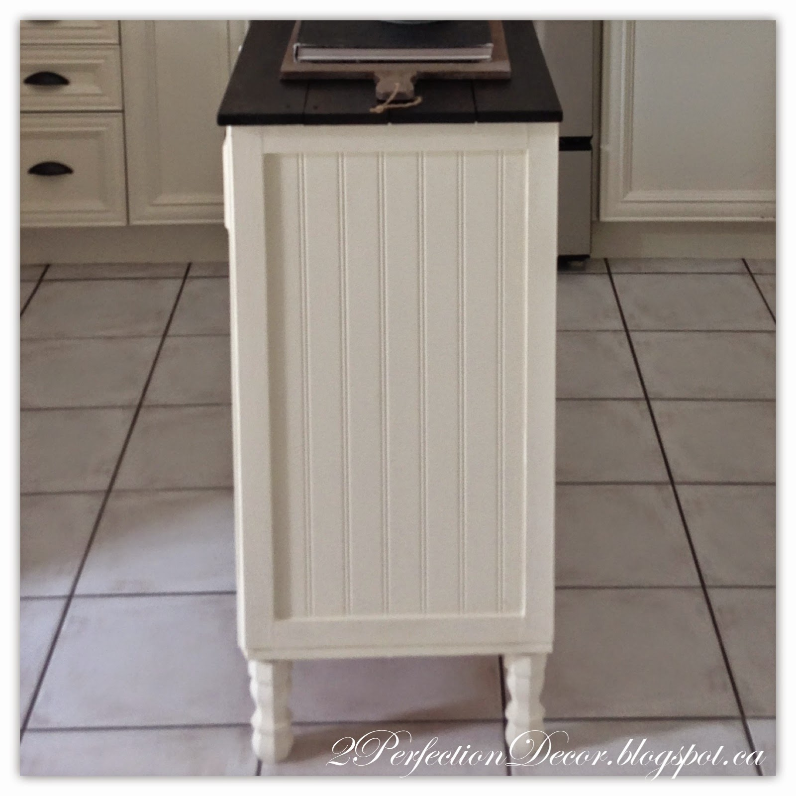 Luxury Adding legs to kitchen island by Perfection Decor featured on Remodelaholic