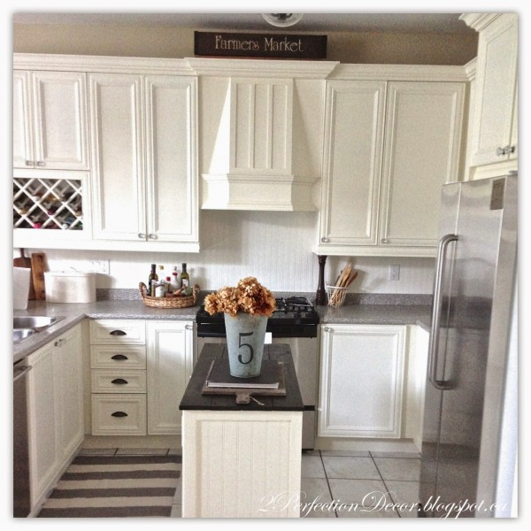 Beadboard kitchen island with plank wood top04 by 2Perfection Decor featured on @Remodelaholic