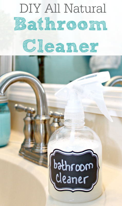 DIY All Natural Bathroom Cleaner | Remodelaholic.com