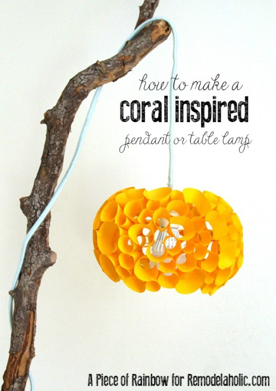 DIY Coral-Inspired Lamp (made from paper!) @Remodelaholic