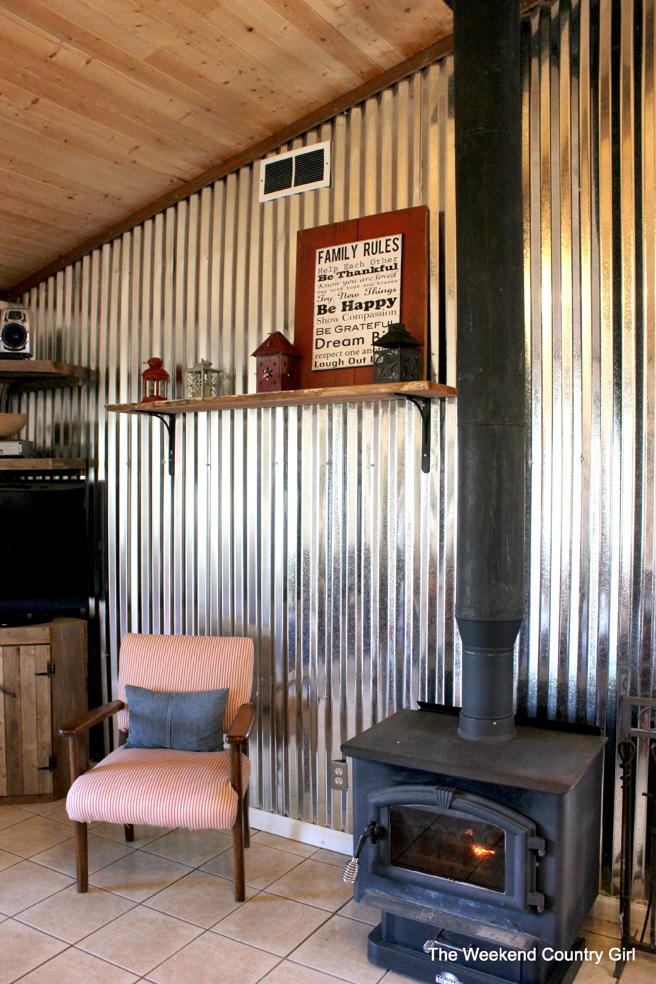 Corrugated Metal Interior Design Remodelaholic Diy Corrugated Tin Wall Tutorial