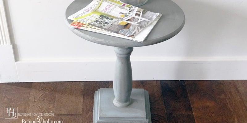 DIY Pedestal Accent Table Horizontal