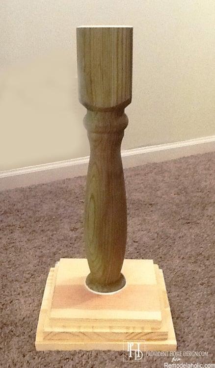 DIY Pedestal Accent Table Remodelaholic
